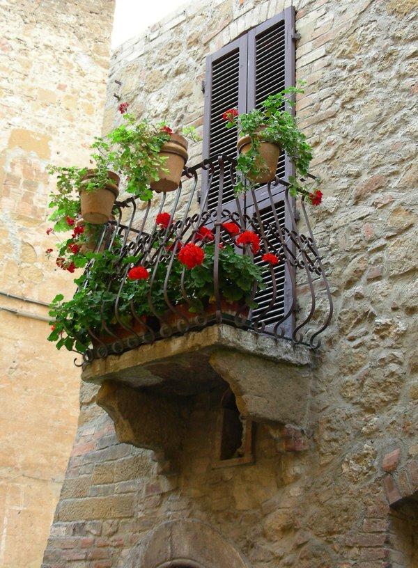 Balkon in der Toskana