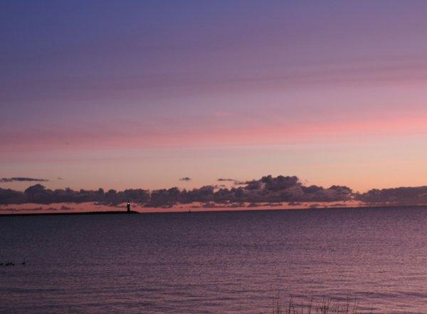 Leuchtturm in der Morgendämmerung