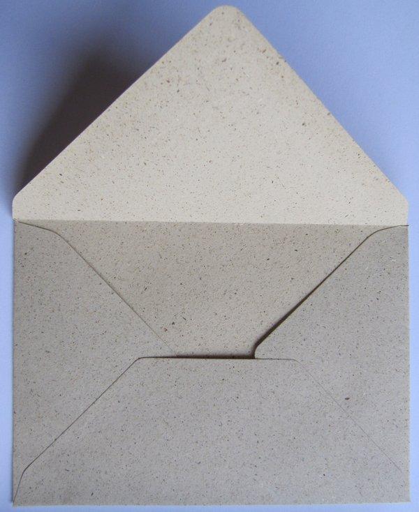 Grüße vom Osterhasen - Klappkarte mit Umschlag