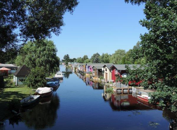 Bootshäuser an der Peene